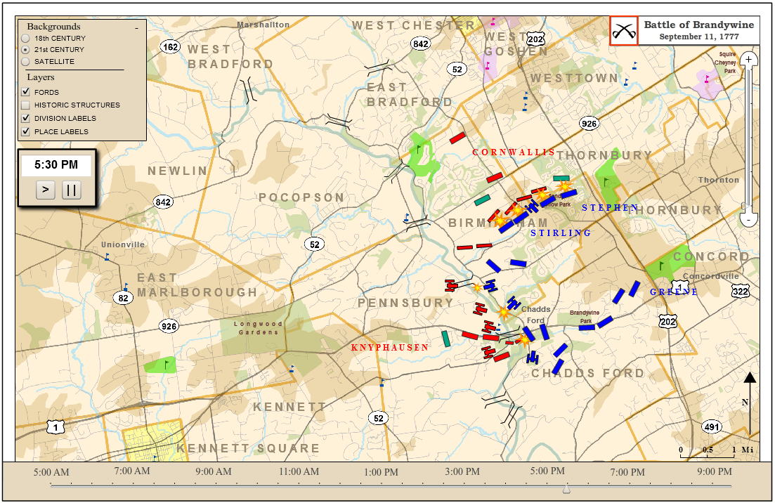 battle of brandywine 3 days ago  battle of brandywine, (september 11, 1777), in the american revolution,  engagement near philadelphia in which the british defeated the.